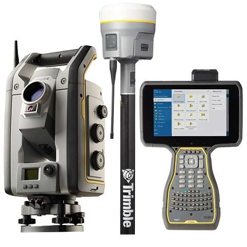 is rover med r10 gnss, s7 1 totalstation og tsc7